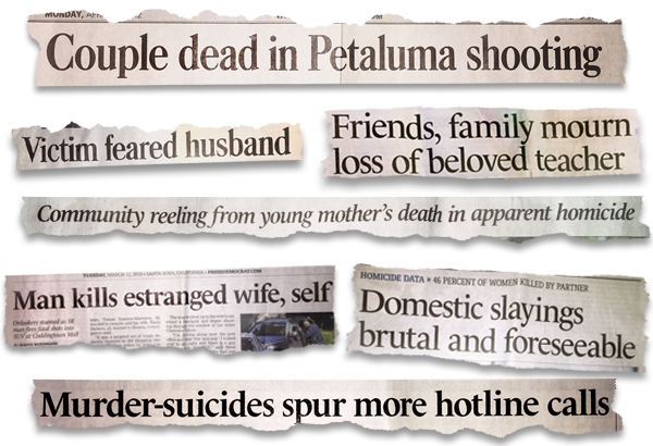 headlines about domestic violence from The Press Democrat